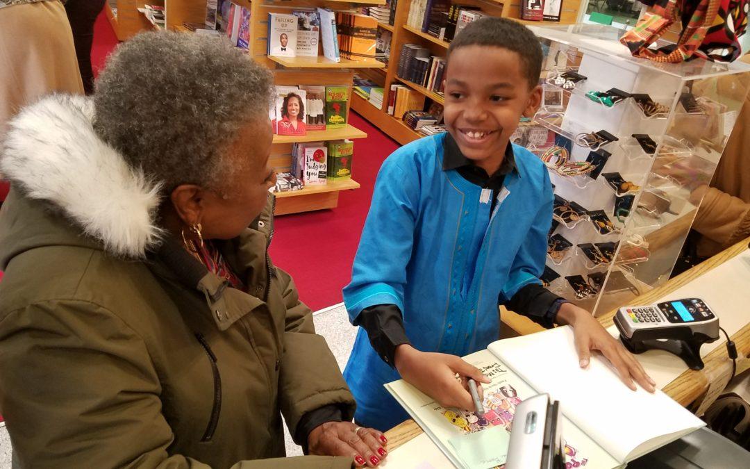 Julian R. Johnson at the Akiba bookstore